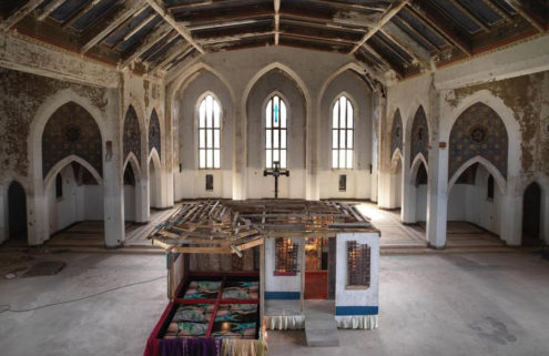 Artist Akeem Smith brings dancehall to Detroit's Woods Cathedral