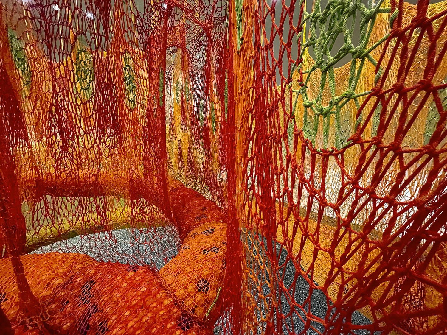 Neto has also burnt the ends of the fibres as a homage to the spiritual rituals of Brazil's indigenous people.