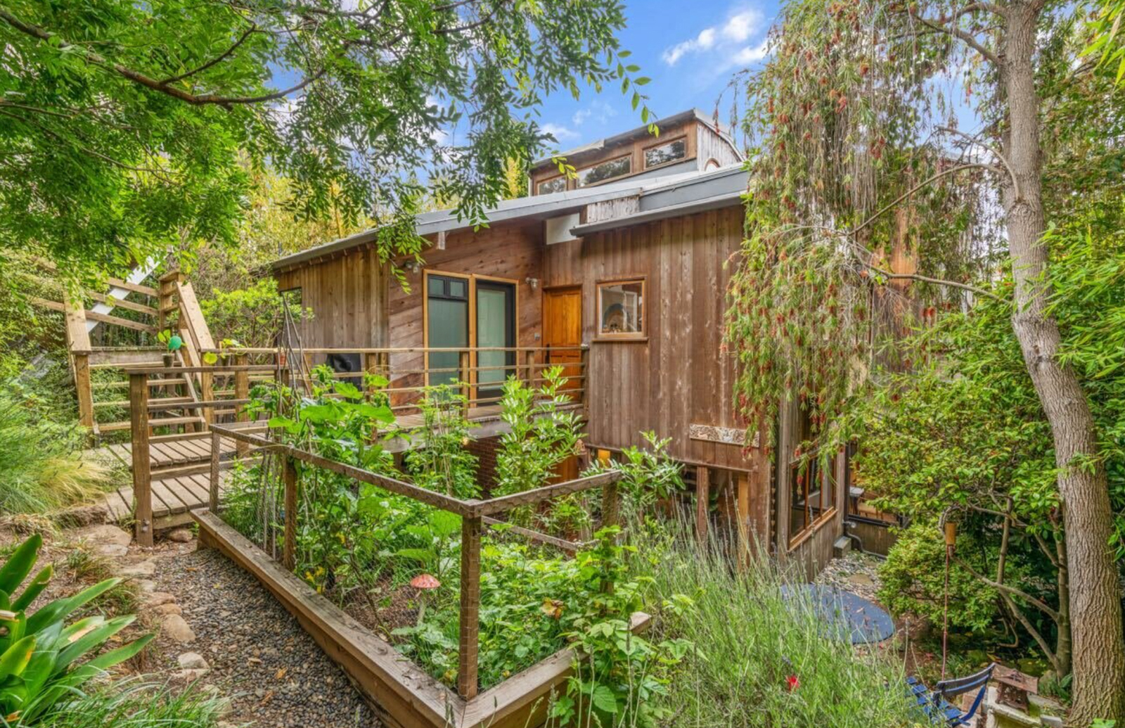 Originally known as the Kane Residence, the property has a treehouse appearance