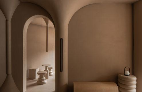 Jú Café's buttery interiors have a smooth retro feel