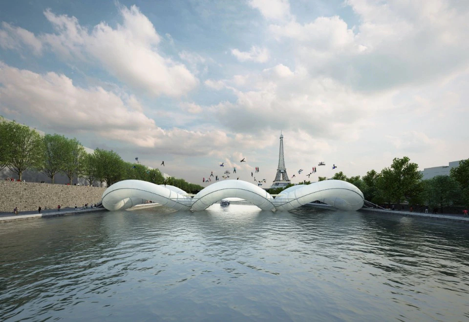 AZC, Pont Trampoline à Paris, 2012. Photography: Centre Pompidou-Metz
