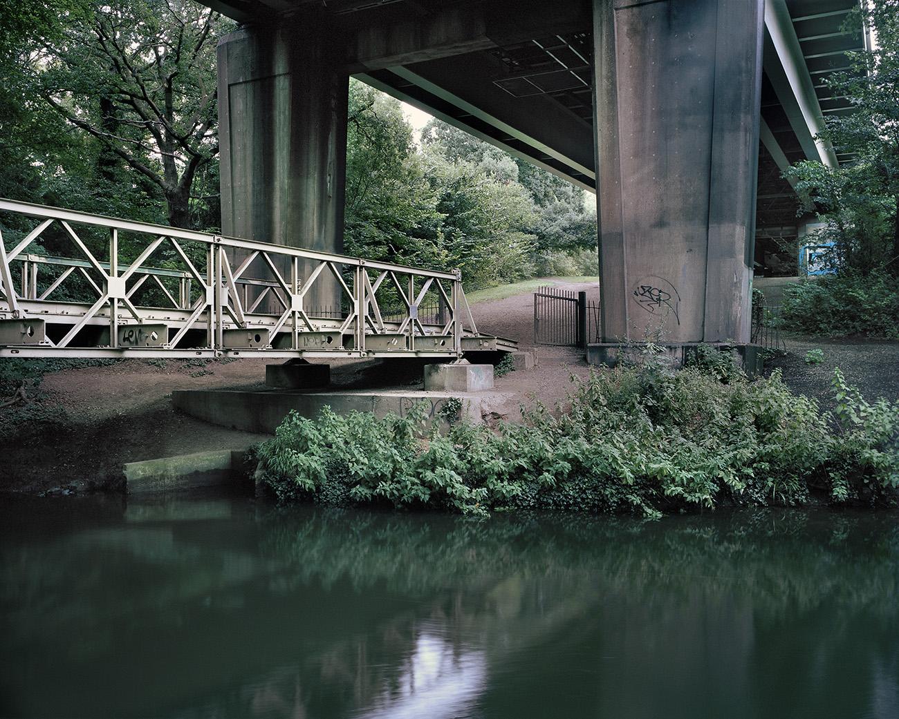 The walkway shot by Andrew Meredith beneath the M4 motorway