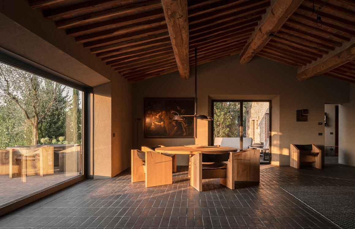 Casa Morelli is a minimalist farmhouse in Tuscany