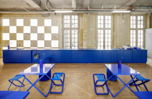 Blue is the new black at Crosby Studios' new pop-up cafe in Paris