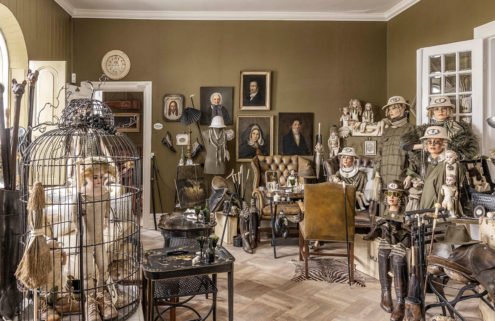 Inside a Danish antique trader's museum-like home in Zealand