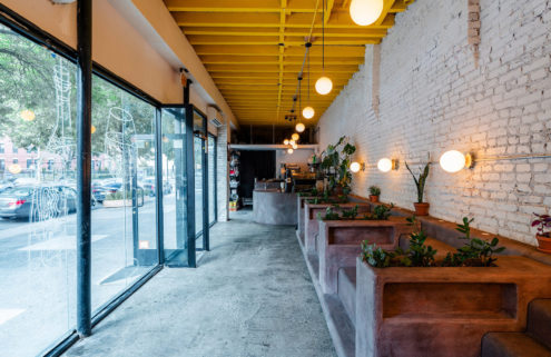 New York's iconic stoops become seats at Brooklyn's Daughter cafe