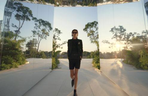 Doug Aitken's kaleidoscopic Venice pavilion hosts Saint Laurent's SS22 show