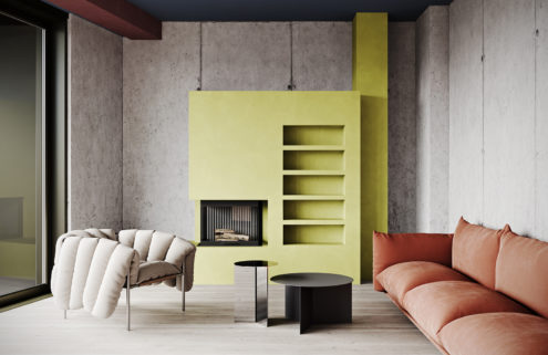 Graft Architects' Berlin apartment is a brutalist beauty with pops of colour