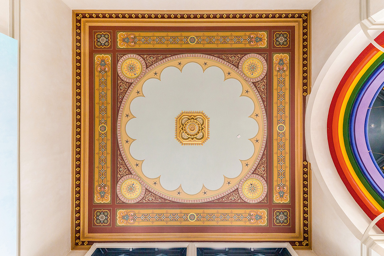 Details of the ceiling.