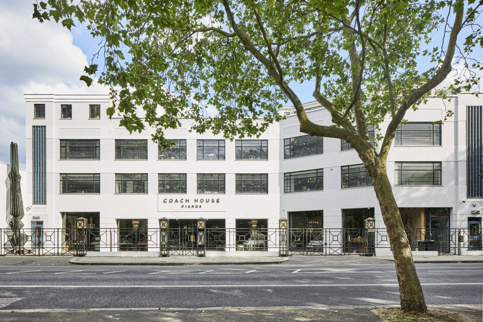 The Talisman House has been converted into ground floor showrooms and four lateral apartments