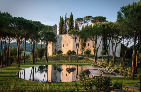 A 1,000-year-old castle in Italy's Umbrian hills is reopening as a hotel