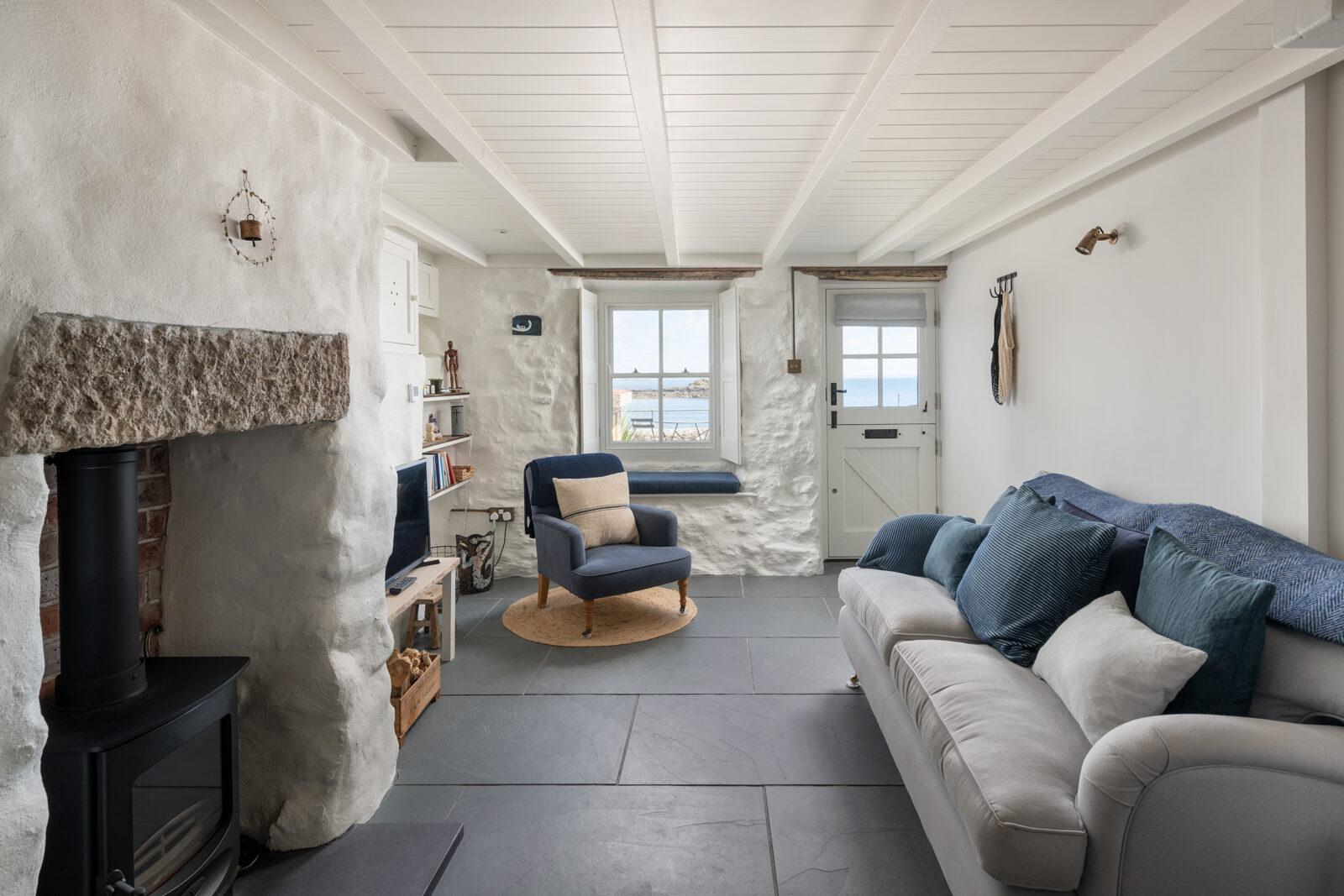 Windows offer views across Mount's Bay