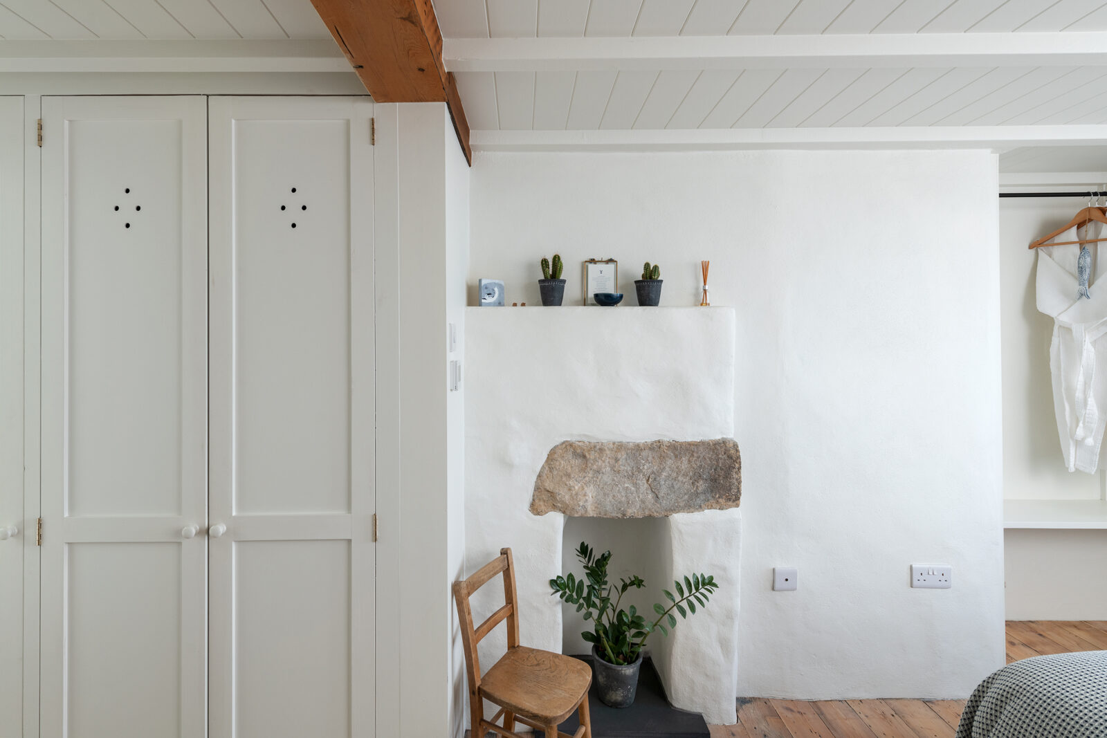 There's plenty of built in storage across the one-bedroom+ cottage