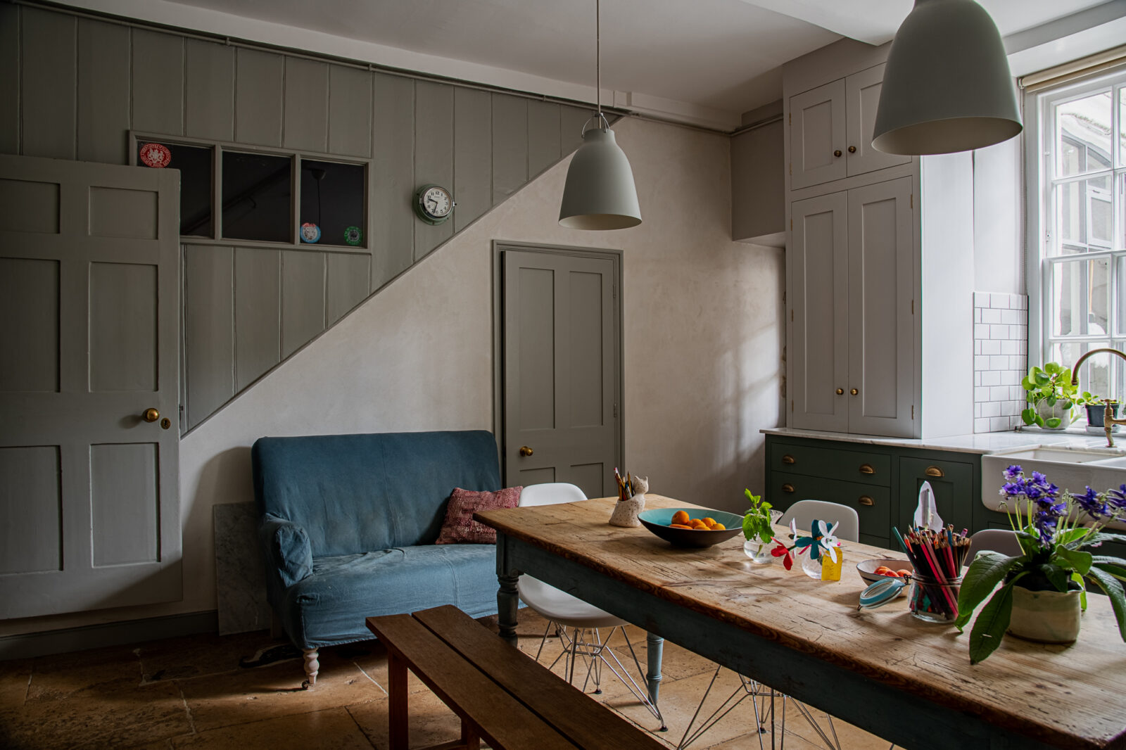 Heritage shades in the kitchen still feel modern