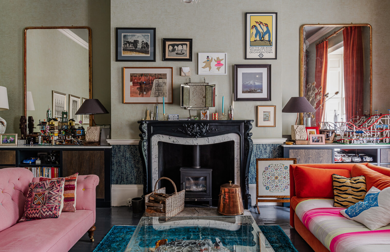 Colour is king inside this maximalist Georgian property