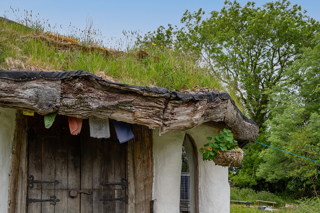 The Welsh property would be at home in a folk tale thanks to its rustic appearance and grassy roof