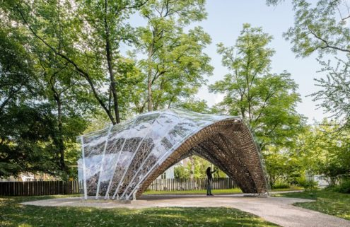Is flax the material of the future? This bio-pavilion proves its potential