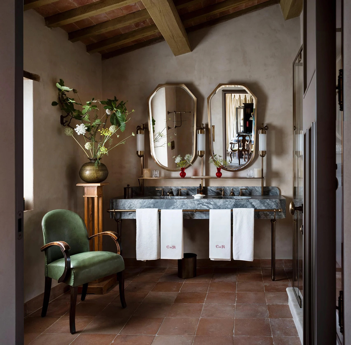 There are thirty suites inside the boutique Umbrian hotel