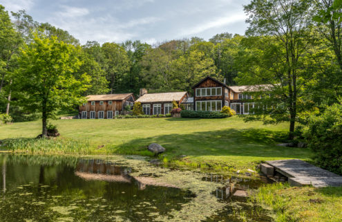 A Connecticut barn overlooking the Catskills comes with 19 acres of land