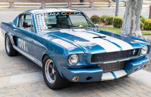 A modified 1965 Ford Mustang fastback is up for auction