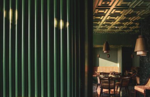 Punjab's Elgin Cafe shimmers in emerald hues