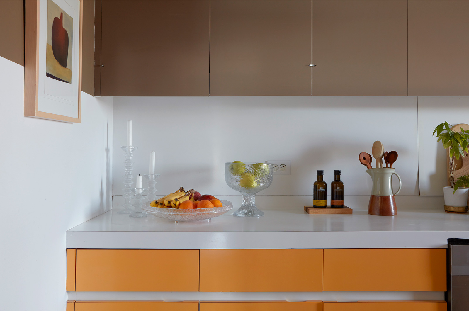 The original 1960s Formica cabinetry has stood the test of time in the kitchen.