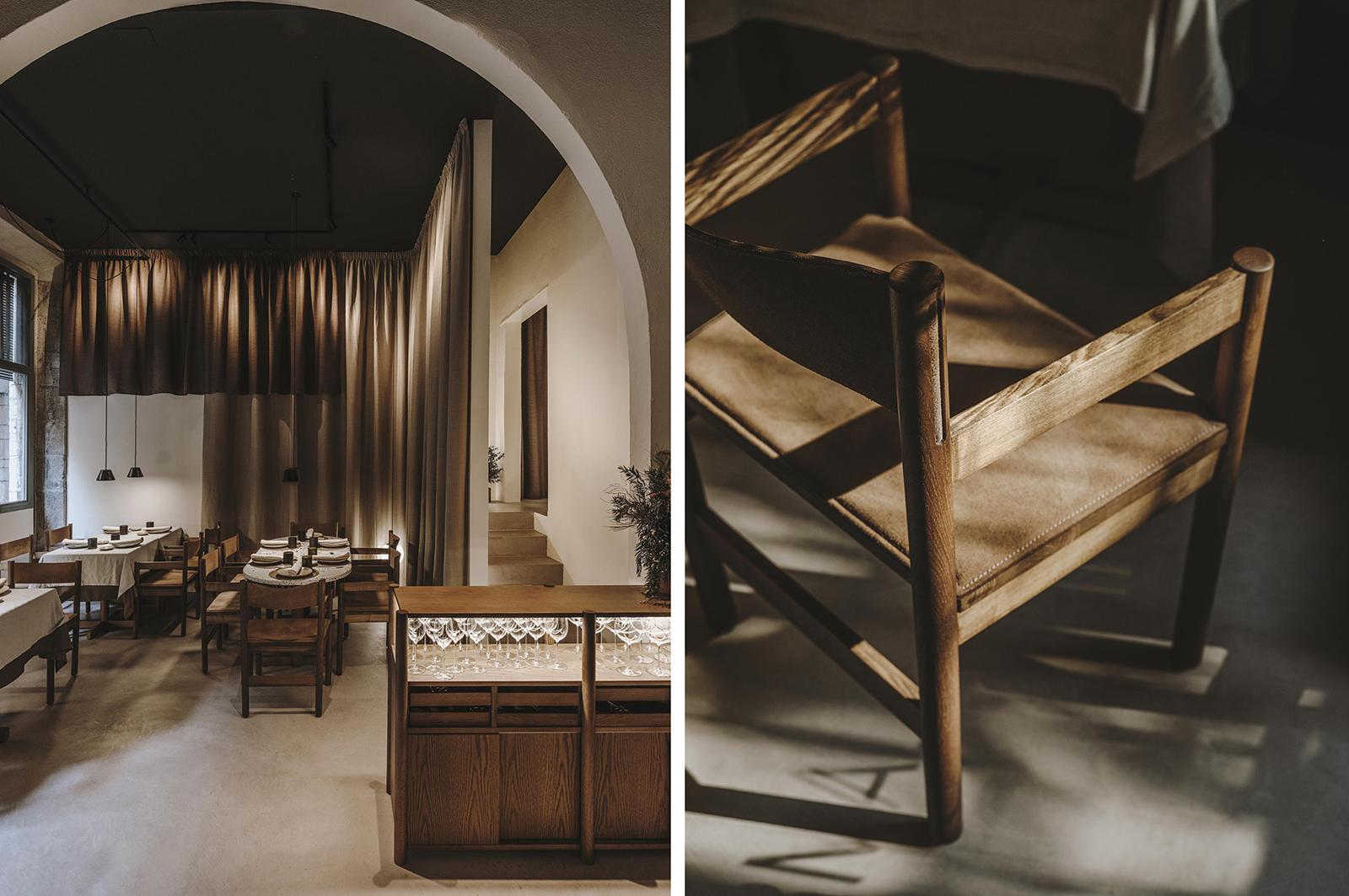 Interiors and furniture are the handiwork of Catalan designed Andreu Carulla