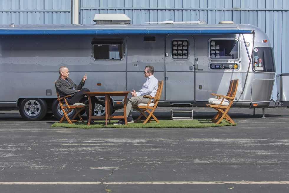 Tom Hanks' 33-ft-long Airstream Model 34 is for auction