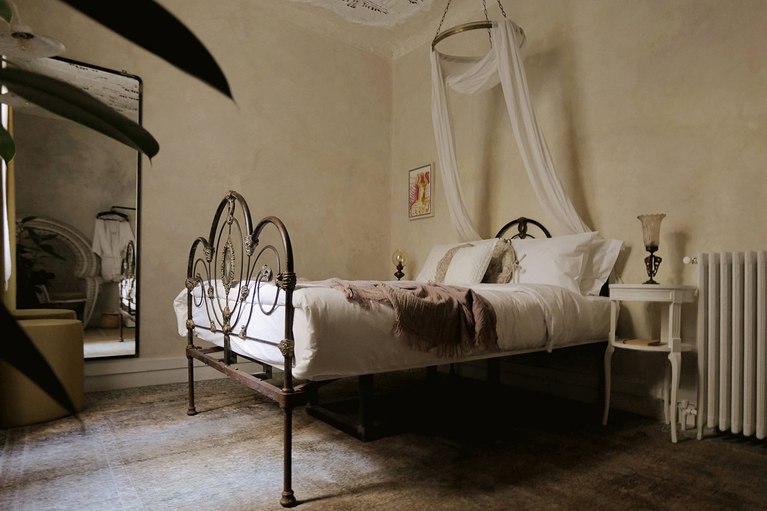 One of the bedroom suites at Shila, Athens