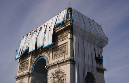 Christo's vision for L'Arc de Triomphe finally unveiled 16 months after his death