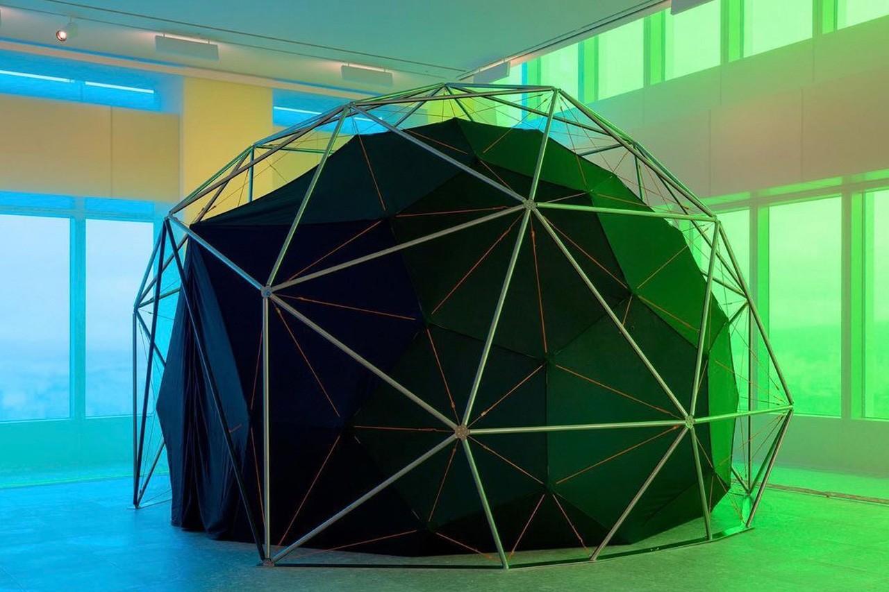 Olafur Eliasson's geodesic dome structure explores the full range of the colour specrum.