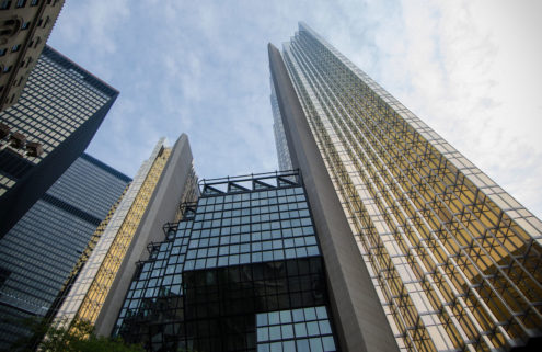 A gold-clad Toronto skyscraper is asking for $1bn