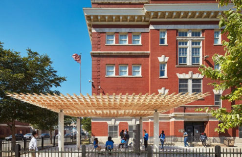 Robot-built timber pavilion debuts at the Chicago Architecture Biennale