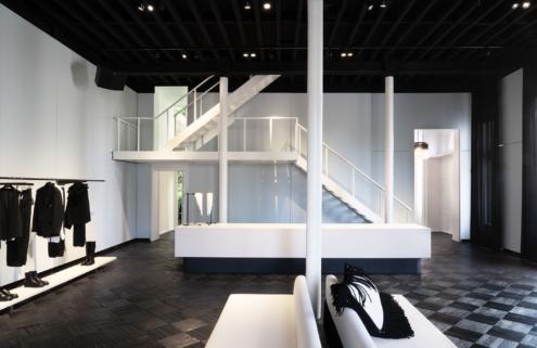 Antwerp's Ann Demeulemeester store gets a monochrome facelift