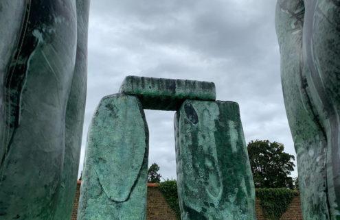 Jeremy Deller's giant inflatable Stonehenge pops up at Oakley Court in Windsor