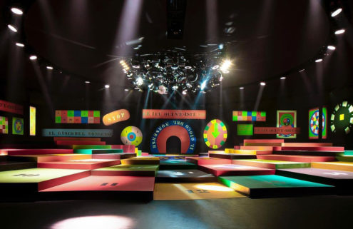 Dior's ready-to-wear Paris show celebrates colour with a retro 60s-inspired nightclub set