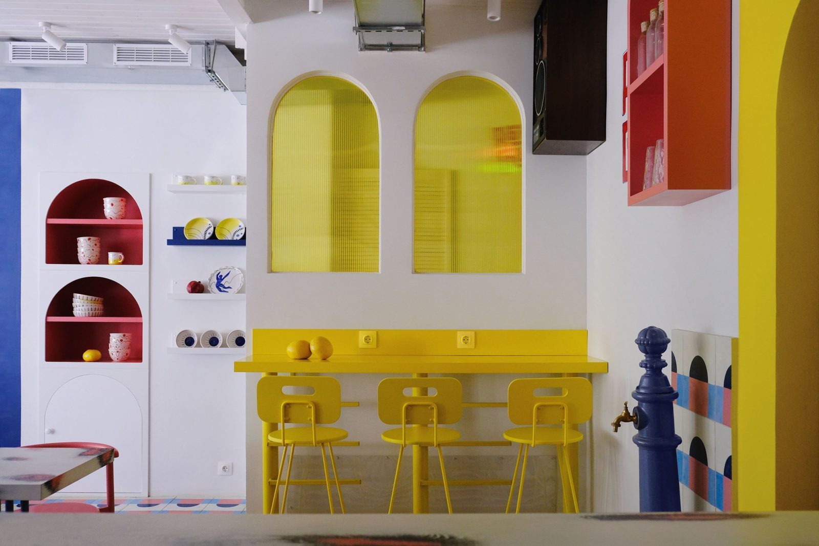 Colourful arches embrace a youthful sense of postmodernism