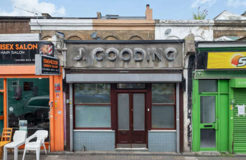 This converted pie and mash shop is peak East London