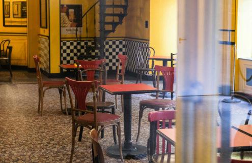 Building Wes Anderson's quirky Le Sans Blague Café