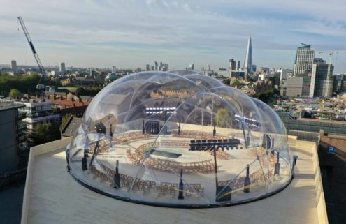 Alexander McQueen's SS22 show took place inside a bubble dome