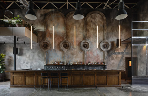 Stomping Ground is a grand beer hall located in a former Melbourne factory