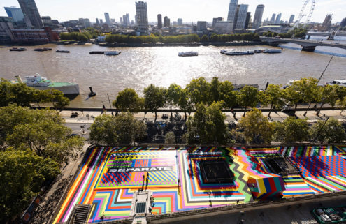 Lakwena gives Temple Station's roof terrace a technicolour makeover