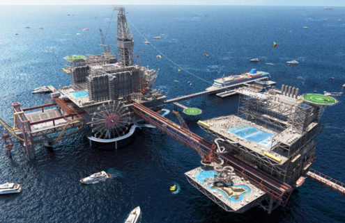 Saudi Arabia is converting an oil rig into a theme park