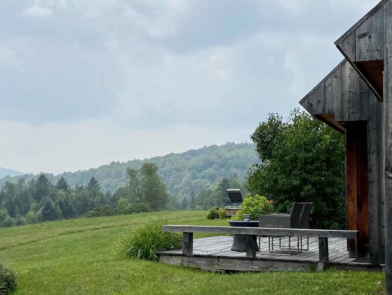 Mediterranean influences blend with Alpine chalet-inspired architecture at this Vermont retreat